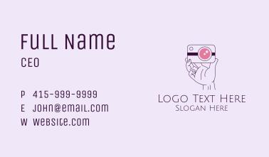 Photographer Camera Hand  Business Card