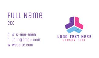 Multicolor Tech Software Business Card