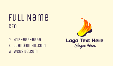 Flaming Shoe Business Card