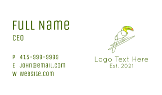 Wild Tropical Toucan Business Card