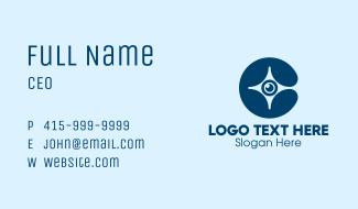 Blue Eye Star  Business Card