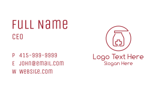 Medical Blood Donation Business Card