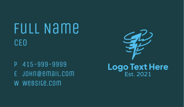 Thunder Storm Wind Business Card