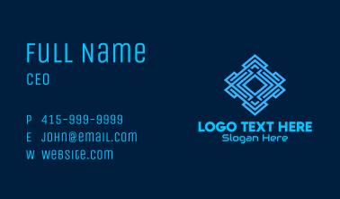 Electronic Circuit Maze Business Card