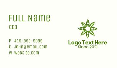 Green Garden Leaf Business Card
