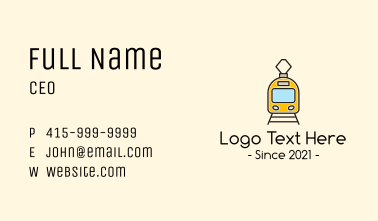 Electric Bullet Train Business Card