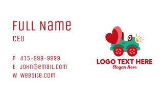 Toy Car Heart  Business Card