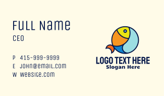 Colorful  Fish Business Card