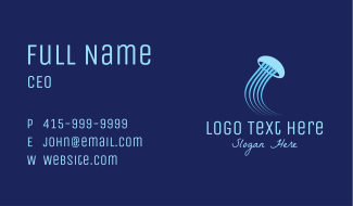 Blue Jellyfish Business Card