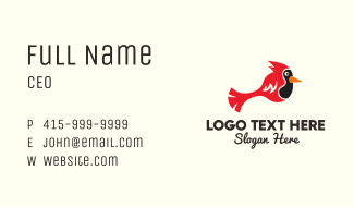 Simple Red Cardinal  Business Card