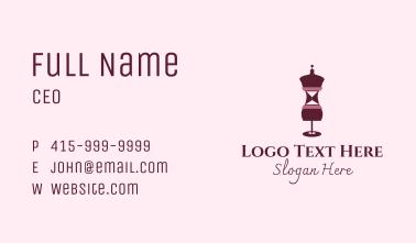 Fashion Mannequin Corset  Business Card