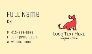 Red Dinosaur Mascot Business Card