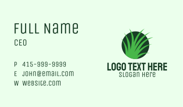 Eco Lawn Grass Business Card