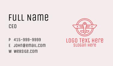 Pilot Academy Emblem Business Card
