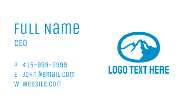 Blue Mountain Oval Business Card
