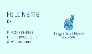 Blue Rabbit Egg  Business Card