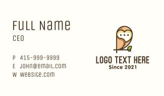 Owl Messaging App Business Card