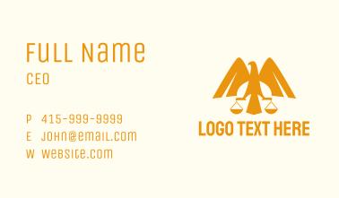 Eagle Legal Scale Business Card
