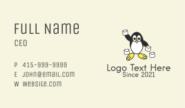 Cute Penguin Mail Business Card