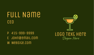 Lime Margarita Cocktail Business Card