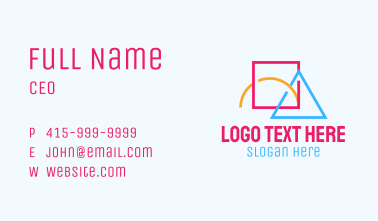 Colorful Geometric Shapes Business Card