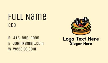 Cool Sunglasses Burger Business Card