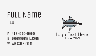 Tuna Fishing Trident Business Card