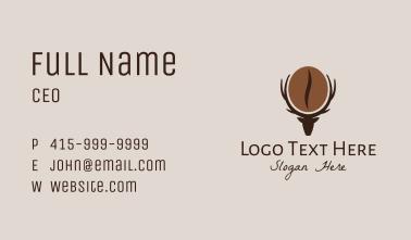 Deer Coffee Bean  Business Card