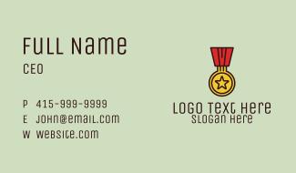 Military Medal Award Business Card
