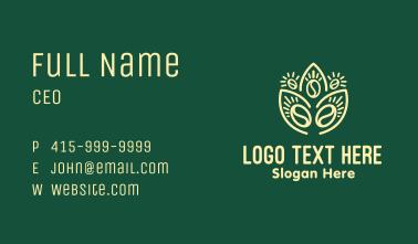 Plant Coffee Bean Business Card