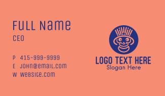 Happy Minimalist Skull Business Card