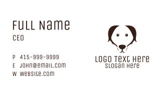 Minimalist Dog  Business Card