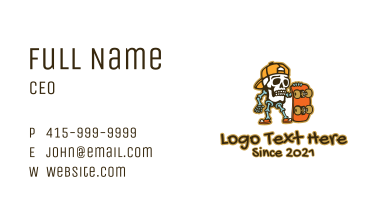 Skeleton Skater  Business Card