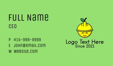 Lemon Construction Hat  Business Card