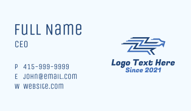 Fast Flying Eagle Business Card