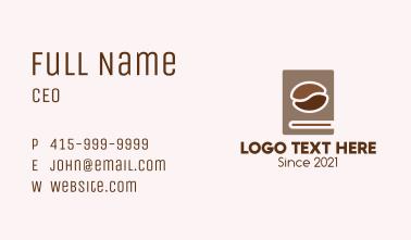 Coffee Bean Book Business Card