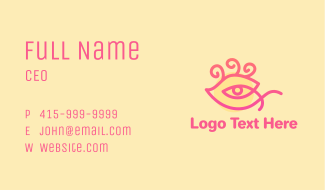 Mystic Eye Eyelash Business Card
