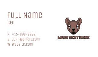 Modern Mouse Outline Business Card