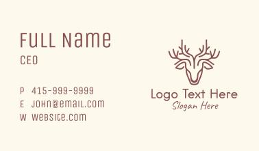 Woodland Deer Line Art Business Card