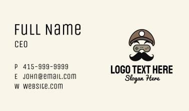 Gamepad Mustache Man Business Card