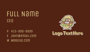 Burger Stand Mascot  Business Card