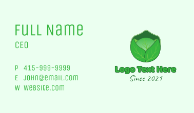 Green Cabbage  Vegetable Business Card