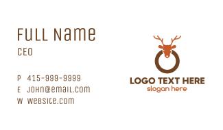 Reindeer Ring Business Card