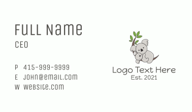Mother & Baby Koala Business Card