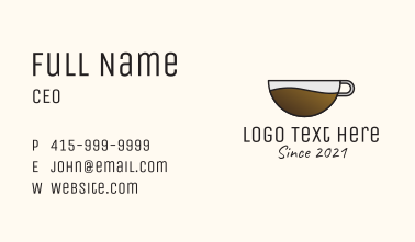 Hot Coffee Shop Business Card