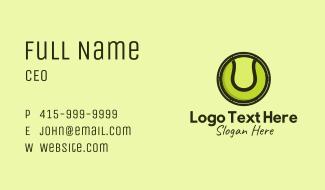 Tennis Ball Badge Business Card