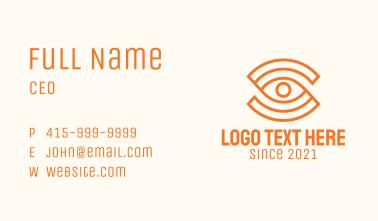 Orange Eye Letter S Business Card