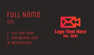 Video Camera Envelope Business Card