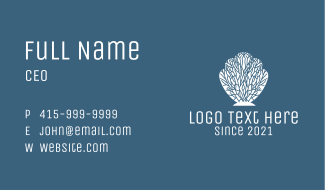 White Coral Shell Business Card