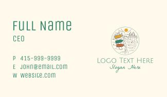 Traveler Road Sign Business Card